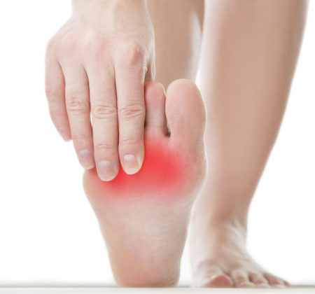 42121731 - pain in the foot. massage of female feet. pedicures. isolated on white background.