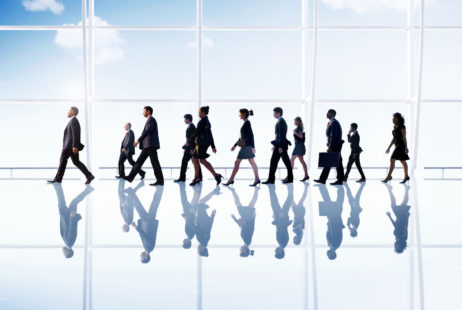 41340701 - business people corporate walking office concept